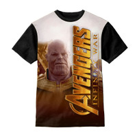 Baju Kaos Anak Thanos Marvel Vertical Logo - Kazzamy Store