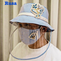 Attachable Mask Protection Hat with ADULTS Patch Embroidery Arkamaya a