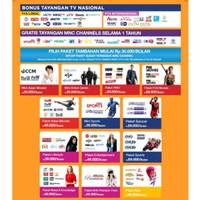Antena Parabola Mini Indovision - MNC Vision Bebas Iuran Bulanan -