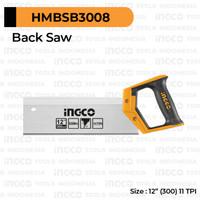 Back Saw (12) INGCO HMBSB3008 Gergaji Kayu Backsaw Sudut Pigura Inch