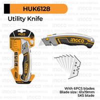 Utility Knife INGCO HUK6128 Pisau Serbaguna Teknisi Tukang Kayu Kulit