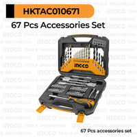 67Pcs Screw & Drill Bits INGCO HKTAC010671 - Mata Bor Tembok Besi Kayu