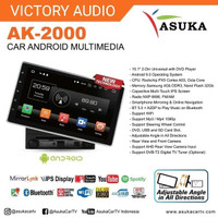 Head Unit Mobil Android 10 Inch Asuka AK 2000 - HU 2-Din Android Asuk
