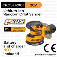 P20S Cordless Random Orbital Sander (5) INGCO CROSLI2001 Mesin Amplas