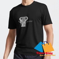 T-Shirt Distro TK African Elephant with Common and Latin n