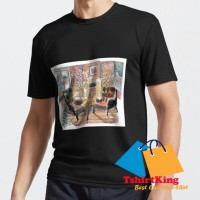 T-Shirt Distro TK Cozy Rustic Pub with Fireplace