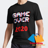 T-Shirt Distro TK Game over 2020 Red Happy new year 2021 Arcad