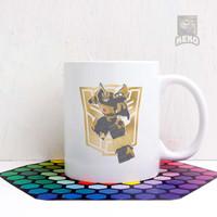 Mug Keramik Transformers Bumblebee Gold Autobot Symbol