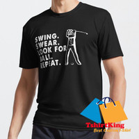 T-Shirt Distro TK Swing Swear Look For Ball Repeat Funny