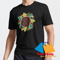T-Shirt Distro TK Tropical Leaves Floral Mand