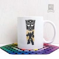 Mug Keramik Transformers Bumblebee Autobot Banner Coffee
