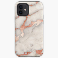 Casing Rose gold marble phone case cover Oppo F3 F5 F7 F9 F1S