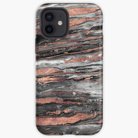 Casing Modern rose gold abstract marbleized paint Oppo F3 F5 F7 F9 F1S