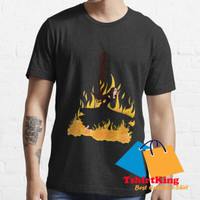 T-Shirt Distro King Salem Witch Burn gothic Character Illustration 187