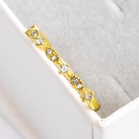 2020 Cincin Emas Putih Simple Hias Berlian Gaya Korea Untuk Wanita