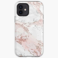 Casing Rose Gold Marble iPhone Case Oppo F3 F5 F7 F9 F1S