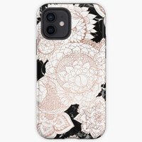 Case Modern rose gold floral mandala chic marble Oppo F3 F5 F7 F9 F1S