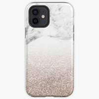 Case Rose gold glitter on marble Oppo F3 F5 F7 F9 F1S