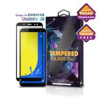 Tempered Glass SAMSUNG Galaxy J6 Full Cover Black - Premium Glass Pro