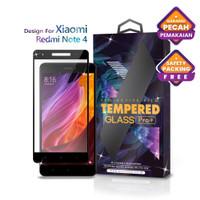 Tempered Glass Xiaomi Redmi Note 4 Full Cover Black - Glass Pro