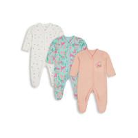 Mothercare Baby Dinosaur Sleepsuits 3 Pc - Set Baju Tidur Bayi (Multi)