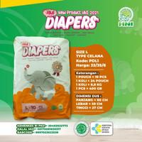 Diapers Popok Anak Bayi HNI - HPAI (Ukuran L)