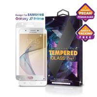 Tempered Glass Samsung Galaxy J7 Prime Full Cover White - Premium Glas