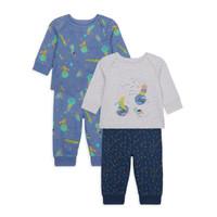 Mothercare space pyjamas - 2 pack - Set Baju Tidur Bayi (Biru)