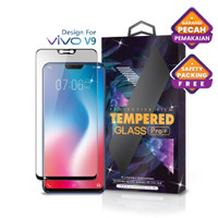 Tempered Glass Vivo V9 Full Cover Black - Premium Glass Pro