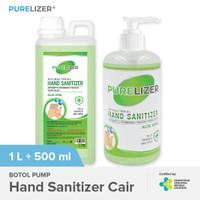 PURELIZER Hand Sanitizer 500ml + Refill 1 Liter Handsanitizer [COMBO]