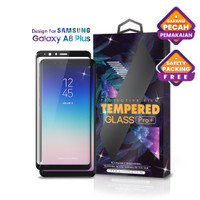 Tempered Glass SAMSUNG Galaxy A8 Plus Full Cover Black - Glass Pro