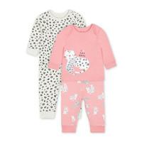 Mothercare little leopard pyjamas 2 pack - Set Baju Tidur Bayi (Pink)