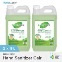 Hand Sanitizer Cair 10 Liter PURELIZER Refill Handsanitizer 5L x2 pcs