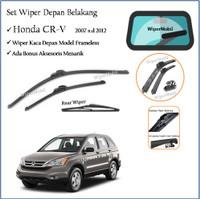 Wiper Frameless Kaca Depan Belakang Honda CR-V CRV 2007 2008 2009 2010