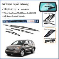 Wiper Kaca Depan Belakang Honda CR-V CRV 2007 2008 2009 2010 2011 2012