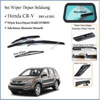 Wiper Lengkap Mobil Honda CR-V CRV 2008 2009 2010 2011 2012 Hybrid