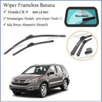Wiper Frameless Kaca Mobil Honda CR-V CRV 2007 2008 2009 2010 11 2012