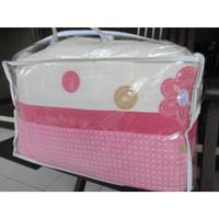 bayi warna bumper muda lengkap merah set Bed pink baby dengan