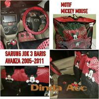 Sarung Jok Mobil Full Set AVANZA XENIA 2005-2011 Motif Mickey Mouse pr