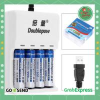 Charger Baterai 4 slot AA/AAA 4 PCS AA Battery Rechargeable 1200mAh