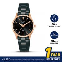 Jam Tangan Wanita Alba Quartz Stainless Steel Black ARSZ10 Original
