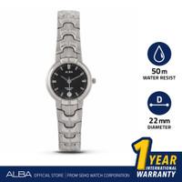 Jam Tangan Wanita Alba Quartz Stainless Black Dial AXTT13 Original