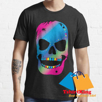 T-Shirt Murah TK Lime and Blueberry Mexican Skull S7 326051
