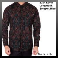 Brotherholic kemeja batik songket pria aneka warna baju bati -ES9