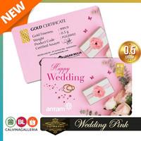 TERL4RI5 Emas Antam 05 Gram Gift Series - Gift Card Happy Wedding