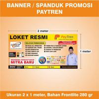 Banner Loket Resmi Agen Paytren TERBARU - Ukuran 2 x 1 meter