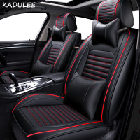 KADULEE PU Leather car seat covers Nissan Qashqai Note Murano March T