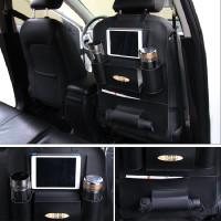 1 Pair Car Stowing Tidying Interior Leather Seat Back Bag Car Organiz