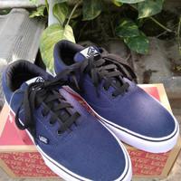 Biru Authentic Dongker Sepatu Wanita Jks-127 Pria Vans Venera Navy Sek