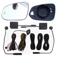 Car Rearview Mirror Antirain Overtaking Mirrors LED Indicator Microw